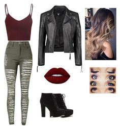 Untitled #523 by martinez-shell on Polyvore featuring beauty, Lime Crime and Boohoo