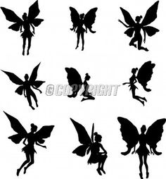 Free Image Silhouette Vector Illustration   Fairy Silhouettes Vector Illustration   StockPodium - Image 9009750