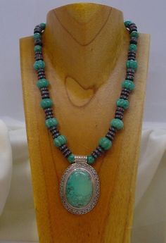 Asian Fusion Turquoise and Mala Beads by SilkRoadJewelry on Etsy