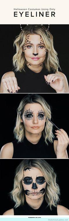 An easy DIY Halloween Makeup using only EYELINER!