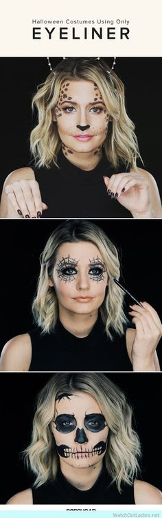 An easy DIY Halloween Makeup using only EYELINER!