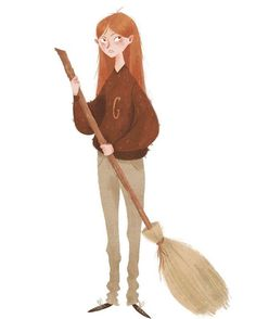 Taryn Knight | this is the most perfect drawing of Ginny I've ever seen