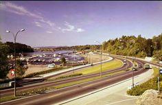 Oslo Sjølystveien,retning vestover 1960-tallet Utg Normann