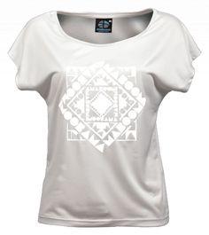 Vente t-shirt large femme écologique recyclé chachacomani blanc en ligne