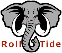Alabama Football Logo, Alabama Crimson Tide Logo, Georgia Bulldogs Football, Alabama Wallpaper, Alabama Elephant, Alabama Wreaths, I Go Crazy, Roll Tide, Embroidery Designs