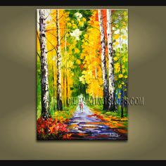 beautiful oil painting on canvas. It is nicely done oil painting of Park in Palette Knife style. This painting is painted with great skill, masterful brush strokes by our talented artist. Abstract Painting Techniques, Modern Oil Painting, Modern Art Paintings, Hand Painting Art, Tree Paintings, Abstract Paintings, Contemporary Wall Decor, Modern Wall Art, Large Wall Art