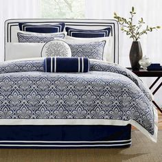 navy blue and grey comforter sets navy comforter sets blue bedding set queen navy navy blue comforter sets twin navy blue and yellow comforter sets navy blue and white comforter sets Navy Blue Comforter Sets, Blue And White Bedding, Bedroom Comforter Sets, Full Comforter Sets, Queen Bedding Sets, Blue Bedding, Bed Sets, King Comforter, Paisley Bedding