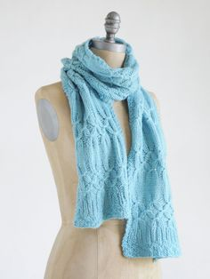 Techno Scarf - free pattern – Blue Sky Alpacas. Matching hat and scarf available. :)