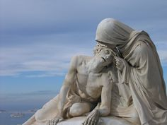 statue of mary at norte dame   saw this expressive stature of mary and jesus at