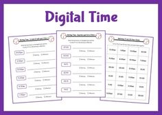 Write the time shown on 12 and 24 hour digital clocks.