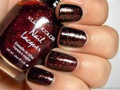 Kleancolor: Chunky Holo Scarlet (over black in the picture)