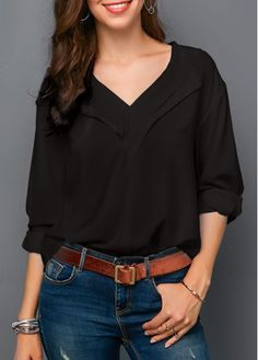 f0659d01c6 9 Delightful black blouse outfit images in 2019