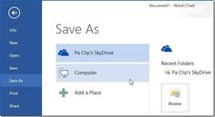 How To Save File As PDF Using MS Word 2013