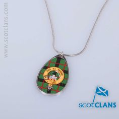 Kincaid Clan Crest Pendant. Free Worldwide Shipping Available