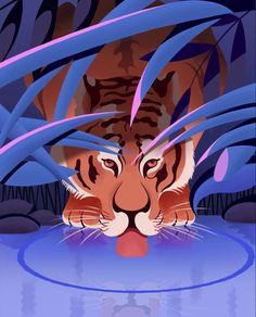 "Chris Hall Draws on Instagram: ""Hidden Tiger Illustration! animated 🐅✍🏻 Second animated illustration I have created #creativeplay 🙂 . . . #animtedillustration…"""