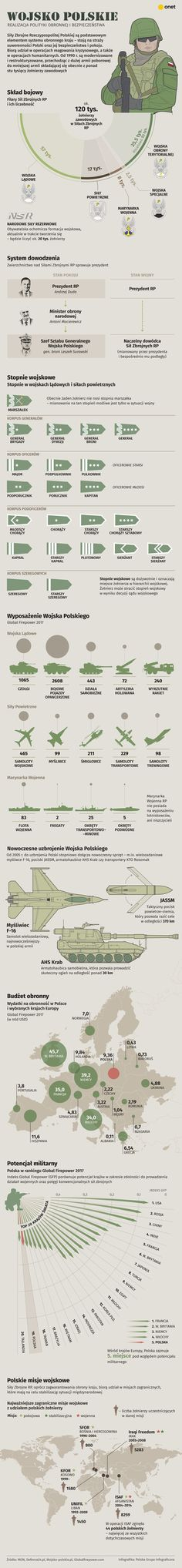 Wojsko Polskie - infografika