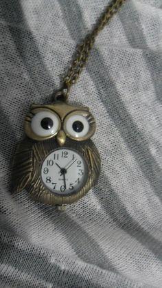 colar coruja relógio R$32,00
