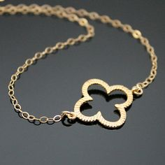 Clover Necklace  Gold Filled and 18K Vermeil by NeliaPKDesigns, $26.99.    LOVE THIS!
