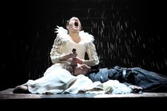 This dramatic photograph was taken during an RSC performance of Shakespeare's Romeo and Juliet.