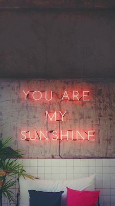 iPhone and Android Wallpapers: Sunshine Quote Wallpaper for iPhone and Android - Wallpaper Quotes Samsung Wallpapers, Wallpaper Iphone Neon, Tumblr Wallpaper, Aesthetic Iphone Wallpaper, Wallpaper S, Cute Wallpapers, Aesthetic Wallpapers, Wallpaper Backgrounds, Wallpaper Iphone Quotes Songs