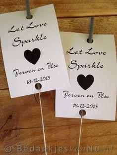 Bedankjes bruiloft : Let Love Sparkle
