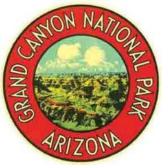 Grand Canyon  AZ  Round Vintage Style 1950/'s Travel Decal Sticker  Arizona