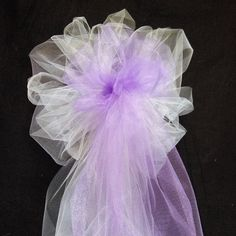 Sale wedding pew bows sparkly ribbon and any color tulle bows with weddingbowsanytwocolorsyouchoosetulle junglespirit Choice Image