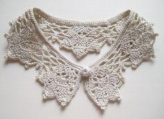 Crochet Doilies, Crochet Top, Crochet Lace Collar, Lace Making, Crochet Fashion, Crochet Clothes, Crochet Projects, Lace Trim, Crochet Necklace
