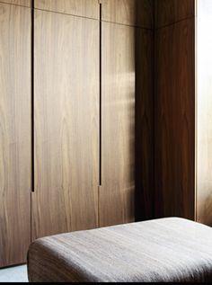 recessed handles, minimal wardrobe