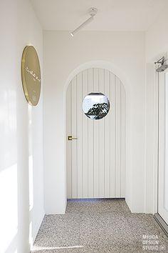 Ballet west Cafe Shop Design, Cafe Interior Design, Interior Architecture, Interior Modern, Arched Doors, Internal Doors, Windows And Doors, Door And Window Design, Door Design