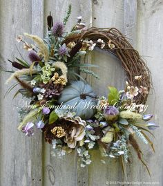 Autumn Country French Meadow Wreath ~A New England Wreath Company Designer Original~