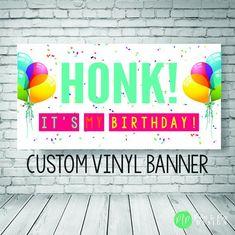 Printed Birthday Vinyl Banner Colorful Birthday Banner Birthday Outdoor Banner Happy Birthday Banner Custom Birthday Backdrop Banner