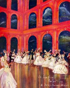 spectredelarose: Painting by Cecil Beaton of La Symphonie Fantastique, a ballet by Léonide Massine with costumes and settings by Christian Bérard, 1936