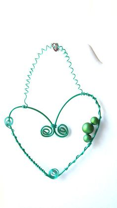 Herz-Dekoration als Wandschmuck  von Modeschmuckstübchen Andrea auf DaWanda.com