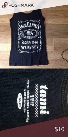 Jack Daniel's Tank Black Jack Daniels tank top. Old navy size S Old Navy Tops Tank Tops