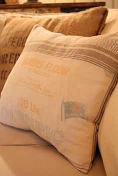 flour sack towel pillows