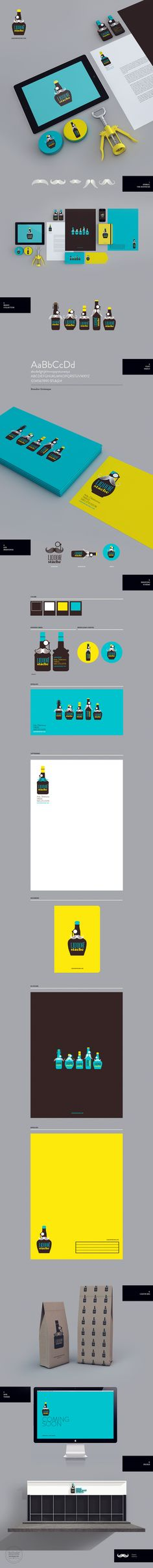Cool Brand Identity Design. Liquor Stache. #branding #brandidentity [http://www.pinterest.com/alfredchong/]