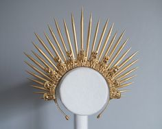 Gold Spike Halo Crown Headpiece for 1/3 BJD SD by atomicsugar