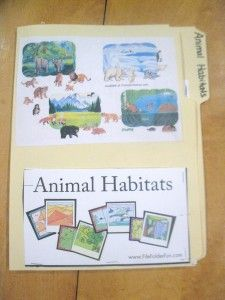 """Search """"File Folder Games"""" or """"Animal Habitats"""" in top right hand search bar to find the printable pdf's"""