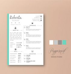 Resume Template with Cover Letter for WORD | Instant Download | DIY Printable Pack |