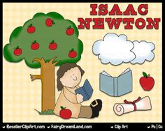 Isaac Newton Digital Clip Art  Commercial Use by ResellerClipArt, $1.50