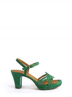 CHIE MIHARA, Wedge Sandals, Esmar Green http://calvanifirenze.it/product/index/gender/woman/brand/7-chie-mihara