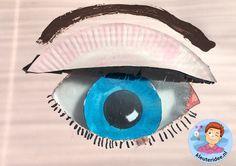 Een oog knutselen met kleuters, thema het oog, kleuteridee.