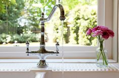 """How to Pick a New Kitchen Faucet: """"Learn all about mounting styles, handles, finishes and quality to get the kitchen faucet that best fits your needs."""""""