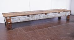 Antique French Pine Bench image 2
