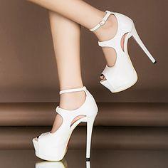 Amazon.fr   chaussure à talon femme blanc sexy - 4 étoiles   plus    Chaussures et Sacs 0aa68abf82b8