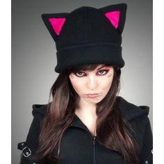 Bonnet Gothique Kawaii Lolita Kitty Chat                                                                                                                                                     Plus