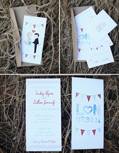 Vintage Americana Style Invitiations for Your Wedding