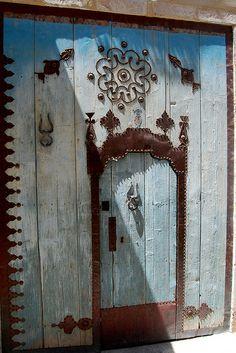 Blue door, Sousse, Tunisia