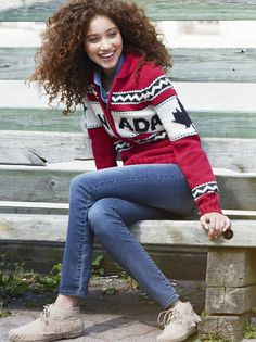 """Canada Cowichan Sweater - Okay, until someone tells me otherwise, I'm assuming """"Cowichan"""" here refers to the style of the sweater rather than the First Nations group."""